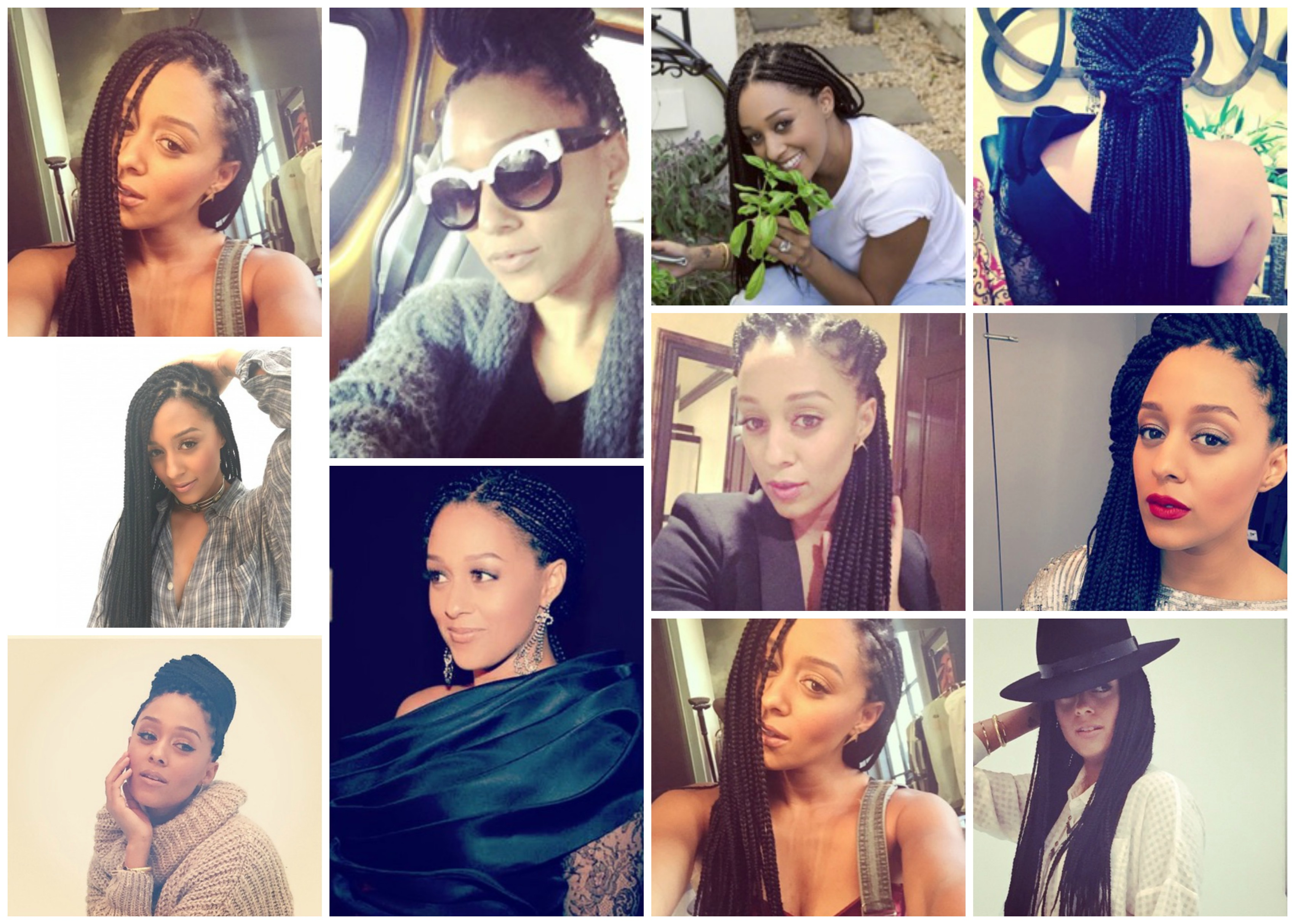 tia mowry braids collage