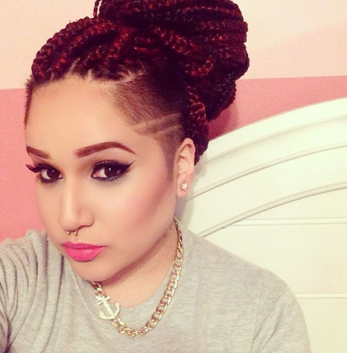 Style Inspiration Shaved Sides With Braids Or Twists