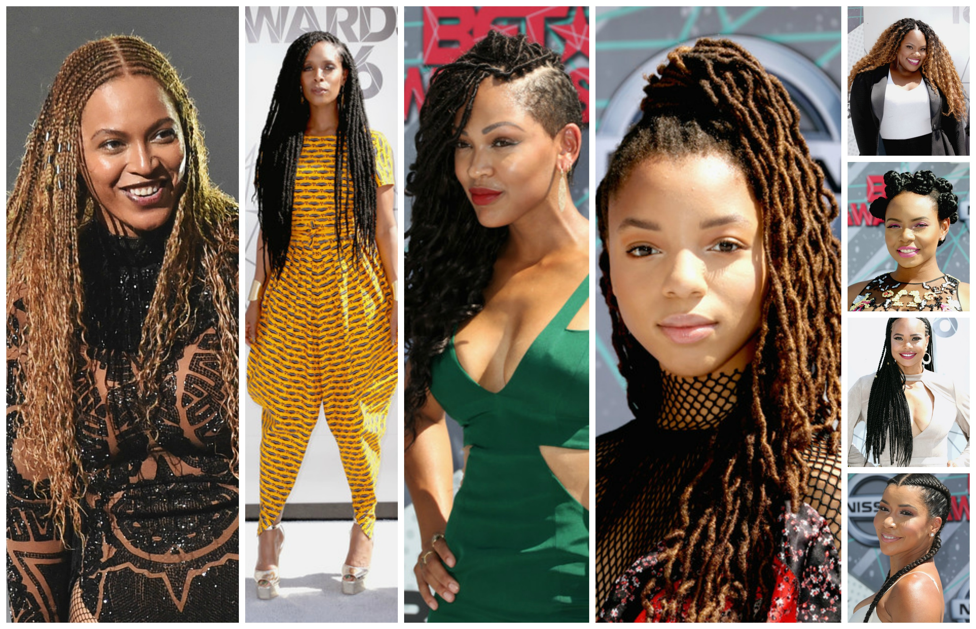 Look At All Those Braids On The 2016 Bet Awards Arrival