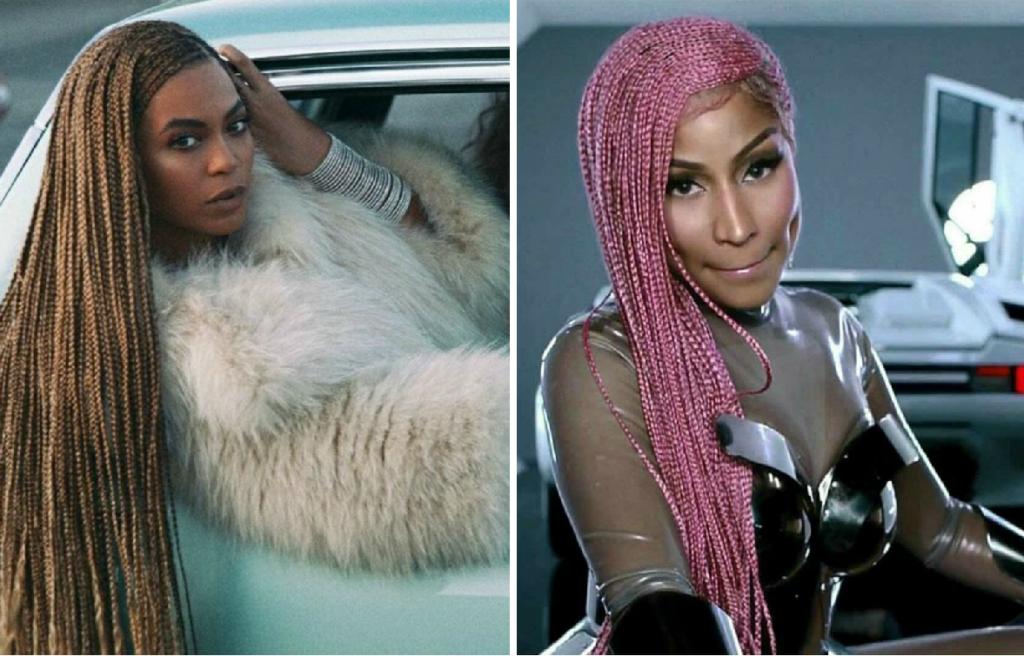 Nicki Minaj S Pink Braids Are Reminiscent To Beyonce S